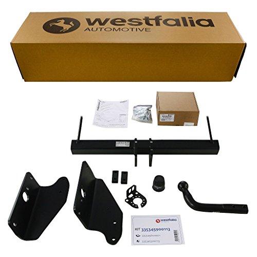 Westfalia Starre Anhängerkupplung für Toyota Avensis Wagon-Kombi T27 (BJ ab 01/2009) im Set mit 13-poligem fahrzeugspezifischen Westfalia Elektrosatz