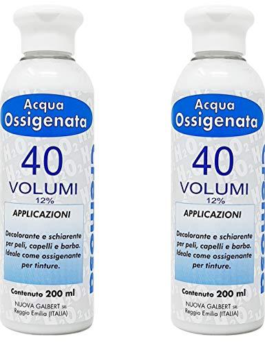 Kit 2 x Acqua Ossigenata Cremosa Professionale 40 Volumi per Tinta Made in Italy