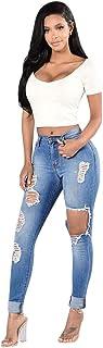 RISTHY Pantalones Vaqueros Mujer Slim Fit, Flaco Pantalones Largos Lápiz Vaqueros Rotos Pantalones Elásticos Stretch Jeans...