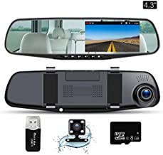 FHD 1296P 4.0 IPS Screen 170/° Wide Angle Dash Camera for Car Camera DVR Dashboard Camera with 16GB TF Card Included RCT Dash Cam