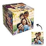 VEELU Personalisiert Fotowürfel Zauberwürfel 3x3 mit 6 Fotos Puzzle Cube Hoch Druck-Qualitäts Fotoalbum Fotorahmen Neues Foto Geschenk für Babys Kinder Mutter Freunde