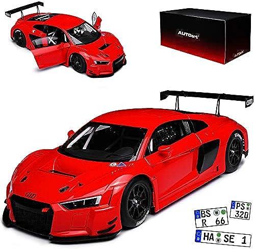 AUTOart Audi R8 FIA LMS GT GT3 Plain BOD Version Rot 81601 1 18 Modell Auto