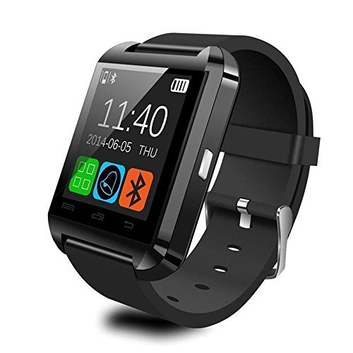CNPGD [U.S. Office Extended Warranty] Weatherproof Smartwatch Touchscreen for iPhone Android Samsung Galaxy Note,Nexus,htc,Sony Black