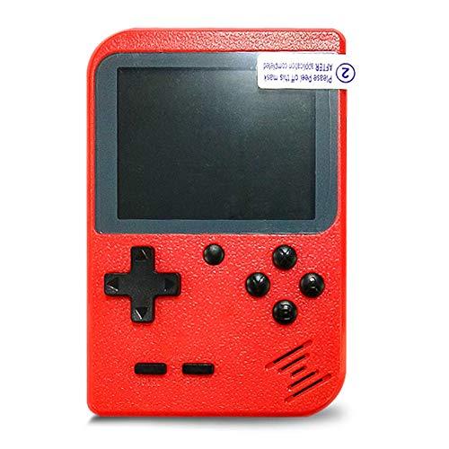 Flybiz Handheld Spielkonsole, Handheld Konsole 3 Zoll Gameboy FC System 400 Retro Spielkonsole Konsole für Kinder Geschenk, Unterstützung TV Player, tragbare Retro-Videospielkonsole (rot)