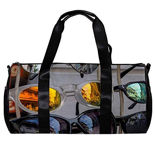 TIZORAX Sporttasche für Damen und Herren, modische Sonnenbrille, Sport, Fitnessstudio, Tragetasche, Wochenende, Übernachtung, Reisetasche, Outdoor-Gepäck, Handtasche