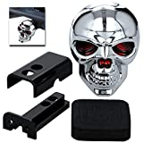 UFRAME Light-Up Red Eye Skull Trailer Hitch Receiver Cover Brake Tail fits 2