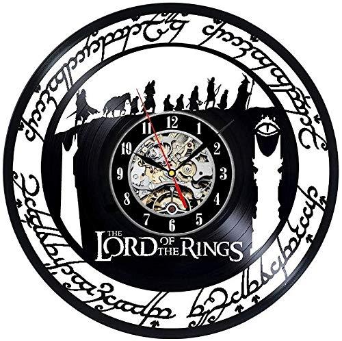 Orologio da Parete in Vinile Il Signore degli Anelli Art House Camera Regalo Decorazione Domestica Moderna