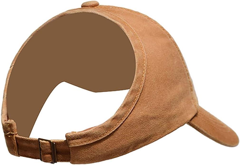 Ponycap Messy High Bun Ponytail Adjustable Cotton Baseball Cap Hat Half-Empty Top Sunshade Baseball Cap