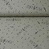 Dekostoff Emilia von Swafing, Notenschlüssel, beige (ab