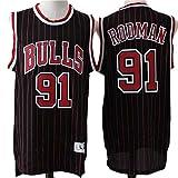 XYFF Camiseta de Baloncesto para Hombre-Dennis Rodman- Jersey de los Bulls de Chicago # 91, versión Retro Ropa de Entrenamiento para Hombres Cómoda