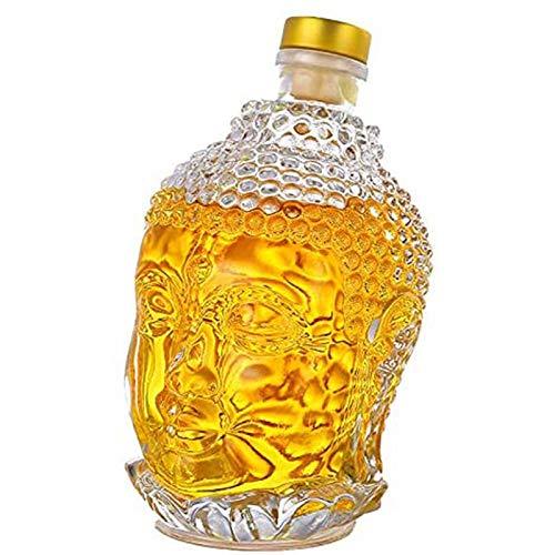 Carafe En Verre 750ML Carafe À Whisky En Cristal De Bouddha - Carafe À Vin Pour Vin, Bourbon, Brandy, Alcool, Jus, Eau