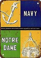 Navy Vs. Notre Dame ティンサイン ポスター ン サイン プレート ブリキ看板 ホーム バーために