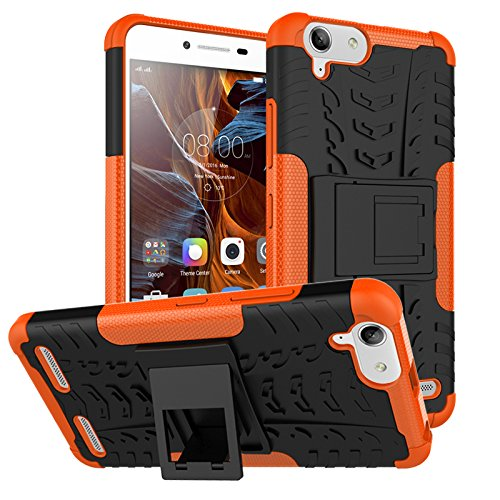 BCIT Lenovo K5/K5 Plus Cover – Alta Calidad Escabroso Durable Estuche Protector TPU/PC Funda Carcasa Case…