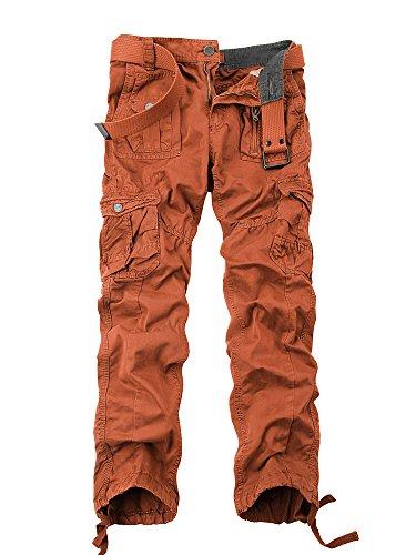 Ochenta legere Herren-Cargohose Gr. 44, #3380 Orange