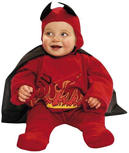 My Other Me Me-200058 Disfraz de diablillo con capa para niños, color rojo, 7-12 meses (Viving Costumes 200058)