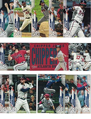 Atlanta Braves/Complete 2020 Topps (Series 1) Baseball Team Set! (12 Cards) Plus Bonus Chipper Jones Card! Chipper Jones Atlanta Braves Baseball