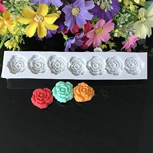 XGQ Herramientas de decoración de pastel de fondant de silicona de flores de rosa