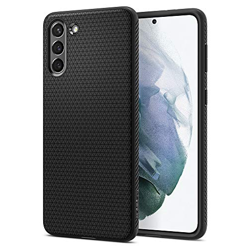 Spigen Liquid Air Hülle Kompatibel mit Samsung Galaxy S21 5g Handyhülle -Schwarz