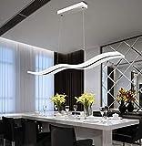 AXFALO LED Pendelleuchte Dimmbar mit Fernbedienung, Moderne Esszimmerlampe Kronleuchter Höhenverstellbar Kreativer Welle Hängende Leuchte 36W Deckenleuchten Acryl für Esszimmer Wohnzimmer Schlafzimme
