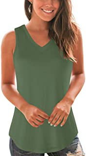 WFTBDREAM Women's Flowy Tank Tops Sleeveless Casual V Neck Shirts