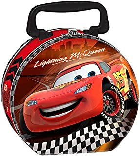 """AmscanDisney Cars Formula Racer Birthday Party Metal Lunch Box Favor, 5 1/8"""" H X 6 3/4"""" W X 3 1/4"""" D, Bright Red"""