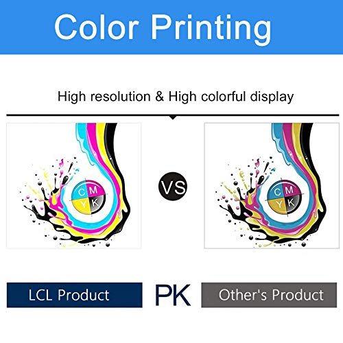 LCL Cartucho de Tinta Compatible PFI107 PFI-107 PFI-107MBK PFI-107BK PFI-107C PFI-107M PFI-107Y 6704B001 6705B001 6706B001 6707B001 6708B001 130ML Pigment (6Pack,2MBK,K,C,M,Y) Reemplazo para Canon