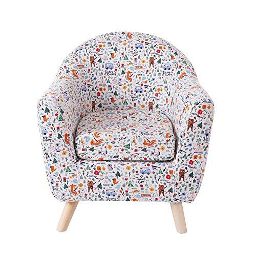 HAKN Sofa d'enfants, petit sofa mignon de dessin animé de siège de sofa de bébé mignon (Couleur : Small fresh)