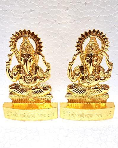 2 pezzi d'oro seduto su Lotus Idol, dimensioni standard 3.0 x4.0