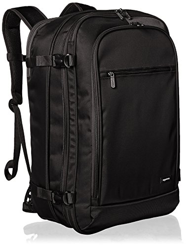 AmazonBasics Carry On Travel Backpack - Black