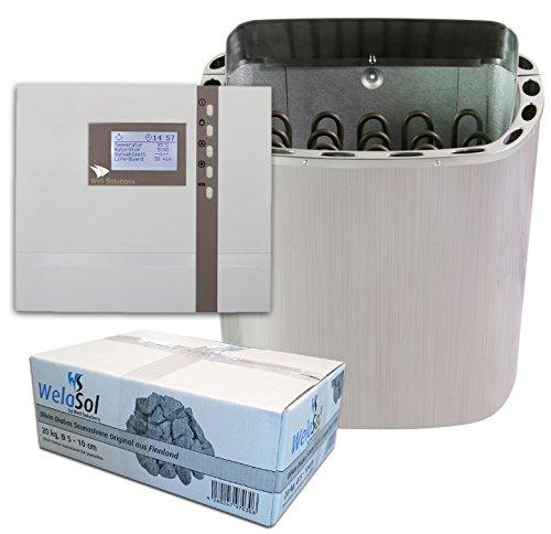 Well Solutions® Saunaofen Scandia Next 9 kW mit EOS Sauna Steuerung ECON D2