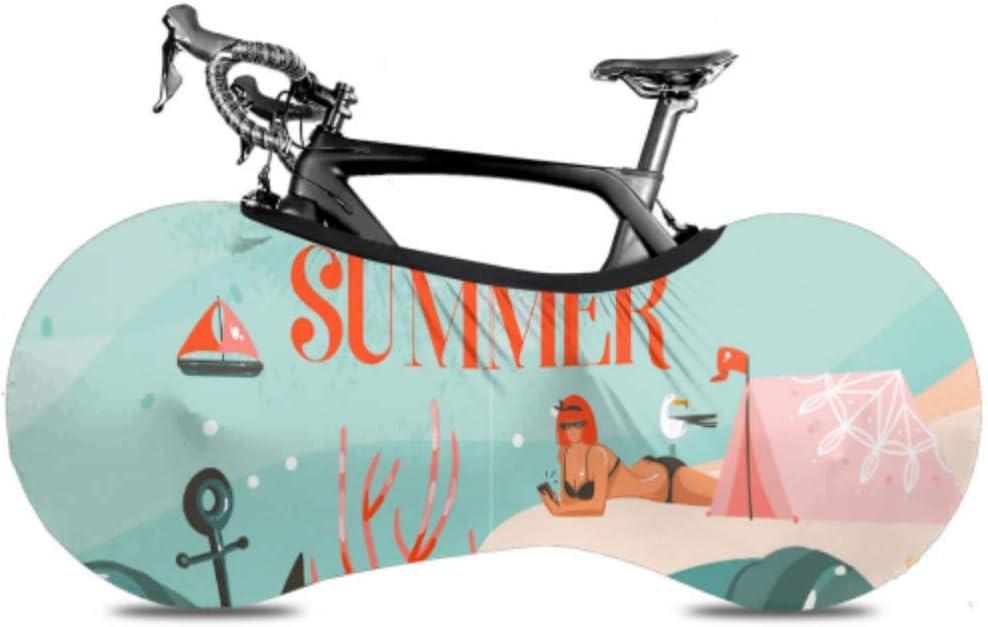 ENEVOTX Beach Girl Summer Umbrella Sunbathe Bike Cover Max 50% OFF Multi Easy-to-use Bik