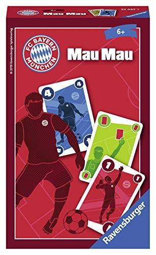 Ravensburger 23467 - Gioco di carte FC Bayern München Mau Mau, il famoso gioco di carte per gli appassionati di calcio.