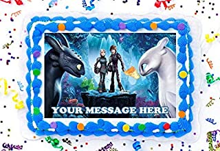 How To Train Your Dragon Cake Topper Edible Image Personalized Cupcakes Frosting Sugar Sheet (8