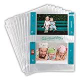 Samsill, 4x6 Photo Album Pages for 3 Ring Binder, Archival Photo Sleeves, Photo Holder and Postcard Holder, 2 Pocket Top Loading, Pack of 50