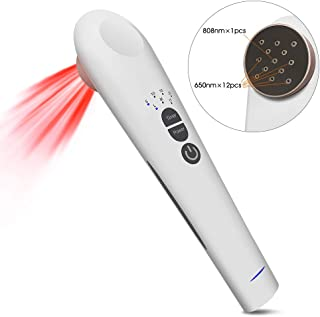 Cold Laser Red Light Therapy Device Pain Relief, Handhold, Low Level Infrared Light for Knee, Shoulder, Back, Joint and Muscle Pain Reliever, Safe for Pet, 3 Power/4 Timer