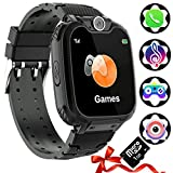 Auburet Kids Smart Watches [SD Card Included ],Kids Phone with Games Music Camera, Full Touch Boys & Girls Smart Watch with Calling SOS 7 Games and Music Player for Birthday Wrist Watch 3-12y
