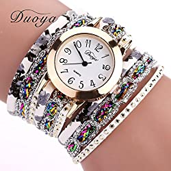 Gold Flower Popular Quartz Luxury Bracelet Watch