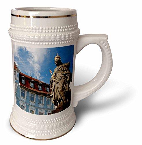 3dRose Deutschland, Bamberg Empress Kunigunde und Hellerhaus-EU10 KWI0006-Kymri Wilt Becher, 510 ml (stn_137135_1), 625 ml Stein, weiß