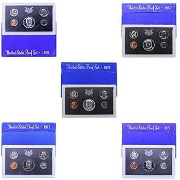 1968 S -1972 US Mint Set Clad Proof Set Run 25 coins
