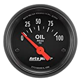 AUTO METER 2634 Z-Series Electric Oil Pressure Gauge
