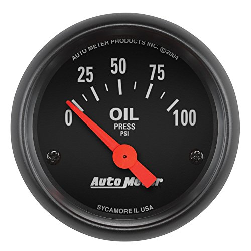 AUTO METER 2634 Z-Series Electric Oil Pressure Gauge, 2-1 16  (52.4mm)