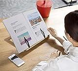 RZKJ-SHOP Leseständer Kochbuchhalter Bücherständer Buchhalter für Küche Holz Bookrest Portable Einstellbarer Book Stand Faltbar PC Buch, Tablet iPad Lehrbücher Steht, Musicbook - 6