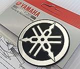 100% GENUINE 55mm Diamètre YAMAHA TUNING FOURCHE Autocollant Emblème Logo noir /...
