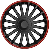 Radzierblenden-Set 10565 Almeria in sportlicher Alufelgen-Optik schwarz/rot, 4-teilig, 40,64 cm ( 16...