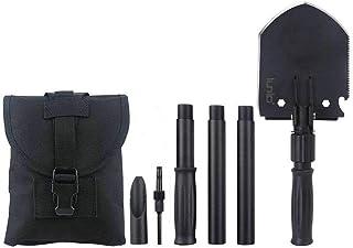 IUNIO Pala plegable portátil militar y Pickax con riñonera táctica para acampar, senderismo, pesca, trinchera, herramienta de entrada, emergencia para coche