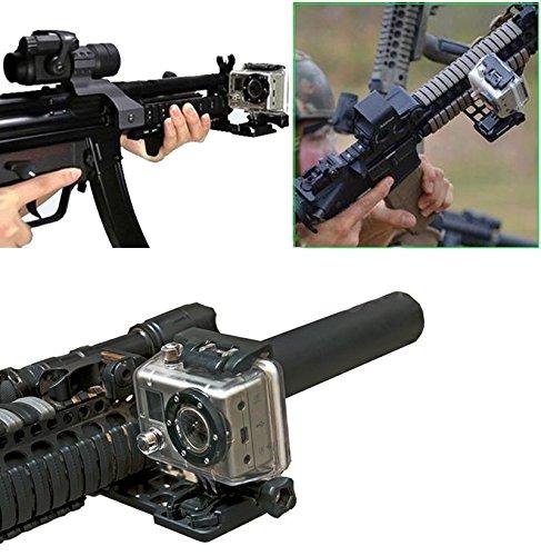 Fotga Cantilever Picatinny Weaver Gun Rail Side Mount for Gopro Hero 4/3+/3/2/1 Camera