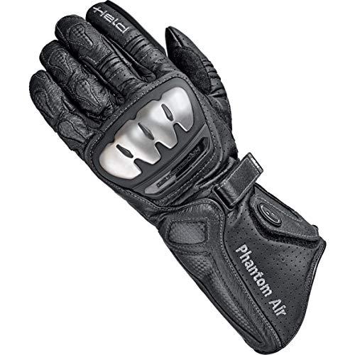 Held Motorradhandschuhe lang Motorrad Handschuh Phantom Air Handschuh schwarz 10, Herren, Sportler, Sommer, Leder