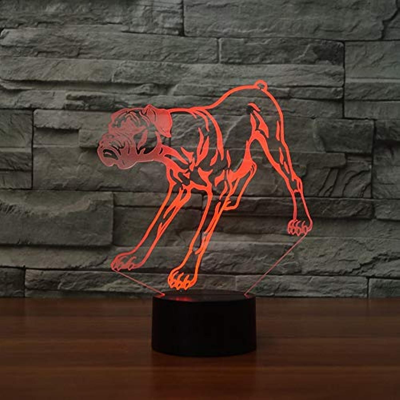 Mozhate 3D Led Nachtlicht Pet Puppy Modellierung USB 7 Farben ndern Hund Schreibtischlampe Schlafzimmer Tier Schlaf Beleuchtung Dekor Kinder Geschenk,Remote und berühren