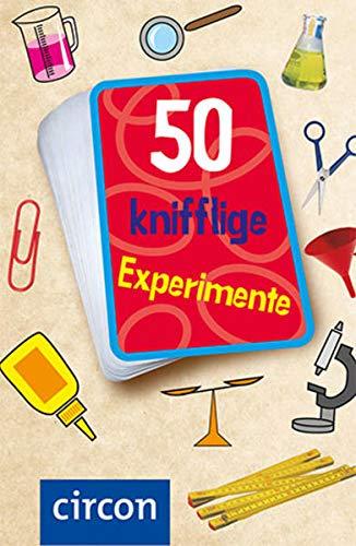 50 knifflige Experimente: Karten für kleine Forscher und Wissenschaftler: Karten zum Experimentieren und Staunen für kleine Forscher (Karten für Kinder)