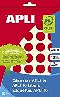【APLI】 手書き丸カラーラベル 40片 (AP-02744) [オフィス用品]